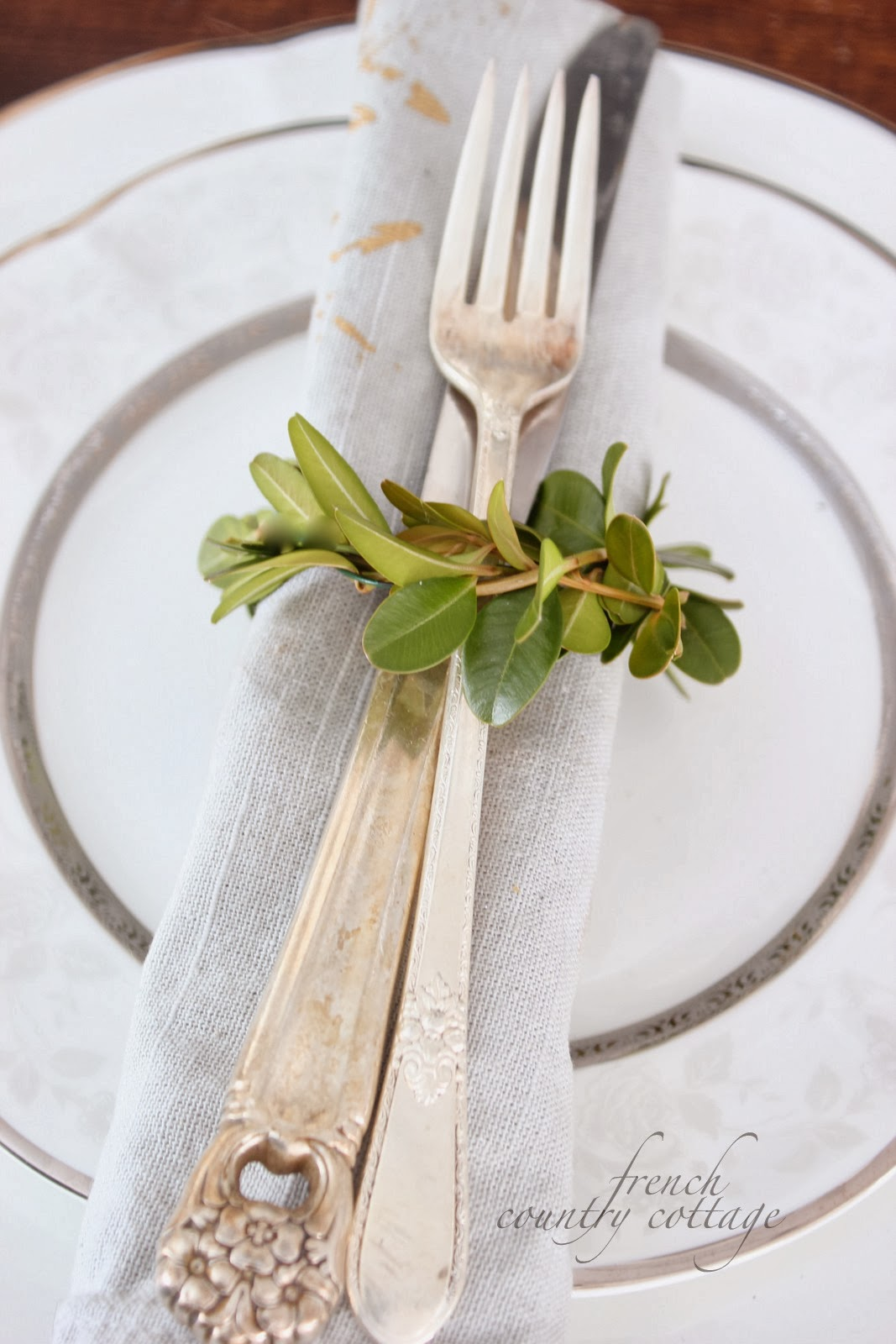 Boxwood napkin rings~ diy - FRENCH COUNTRY COTTAGE