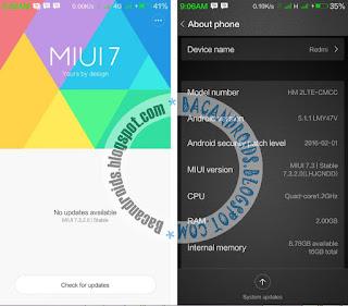 cara tutorial Update Xiaomi Redmi 2 MIUI ke Lollipop LHCJNDD Versi 7.3.2.0/7.3.3.0/7.3.4.0