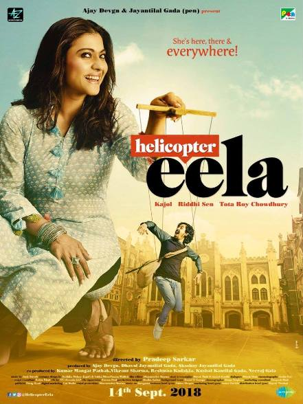 Helicopter Eela new upcoming movie first look, Poster of Kajol, Neha Dhupia, Tota Roy Chowdhury next movie download first look Poster, release date