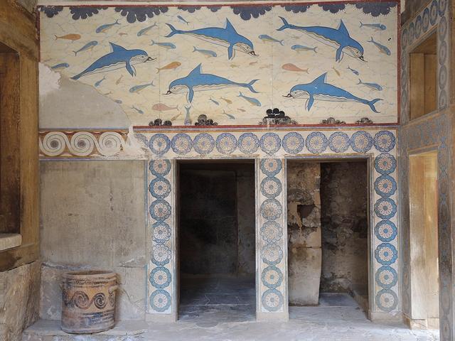 Kreta: stenen in Knossos