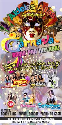 Aldeias Altas abre oficialmente neste sábado o Carnaval Daqui Pra Melhor