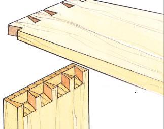 encaixes madeira