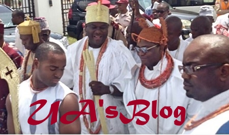 Excitement As Oba of Benin Visits Ooni Of Ife In His Palace (Photo)