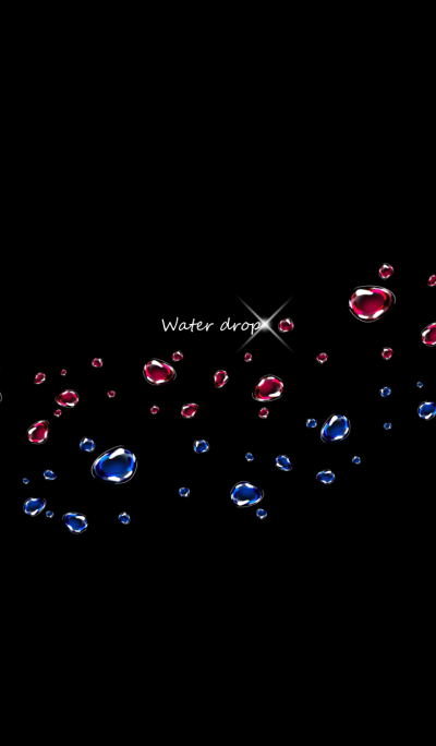 Water drop -Red & Blue-