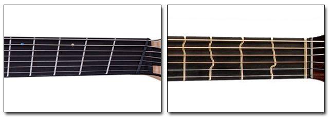 Trastes en Abanico e Irregulares Guitarra Eléctrica