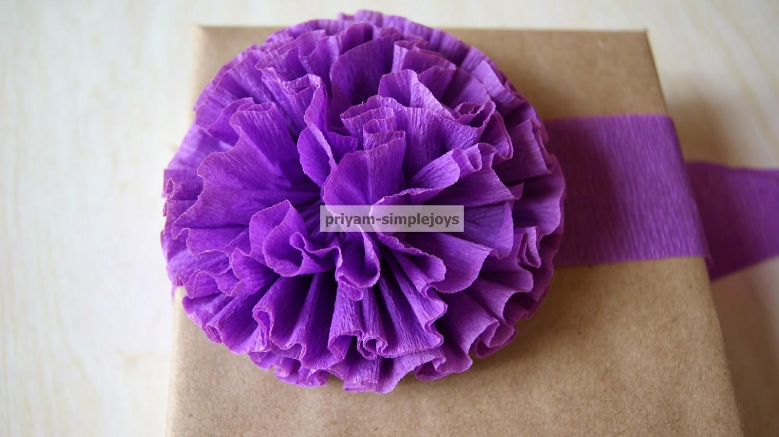 SimpleJoys Crepe Paper Flowers