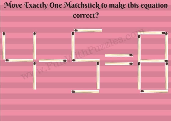 Quick Matchstick Maths Picture Puzzle