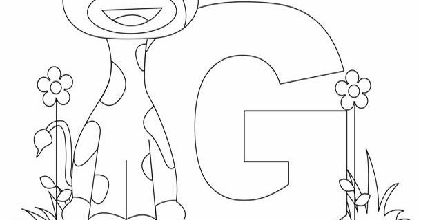 Kids Page: G is for Giraffe Worksheet   Animal Alphabet ...