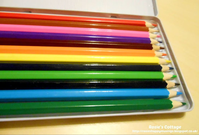 Watercolour colouring pencils - a joy to colour with.