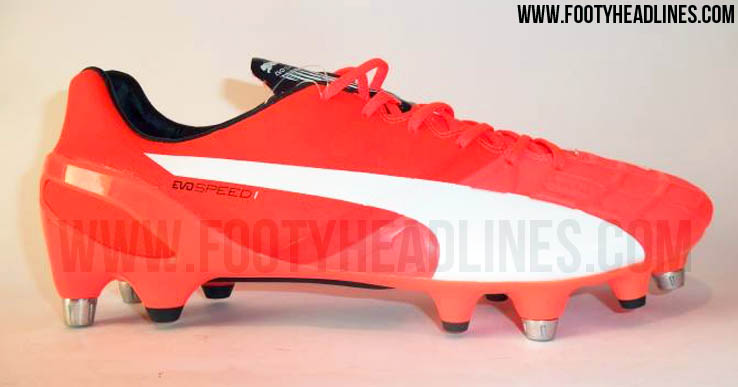 This is the new red next-generation Puma evoSPEED 1.4 2015-2016 Soccer  Cleat. a2b53fb95541
