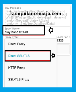 Setting  SSL / TLS di KPn tunnel