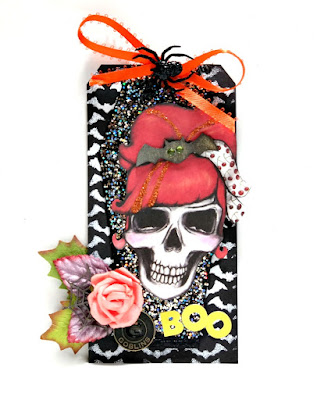 Boo Halloween Skeleton Tag by Dana Tatar for Tando Creative