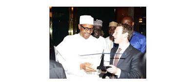 Buhari With Zuckerberg