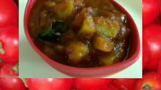 Without onion garlic chutney-Sweet tamato chutney