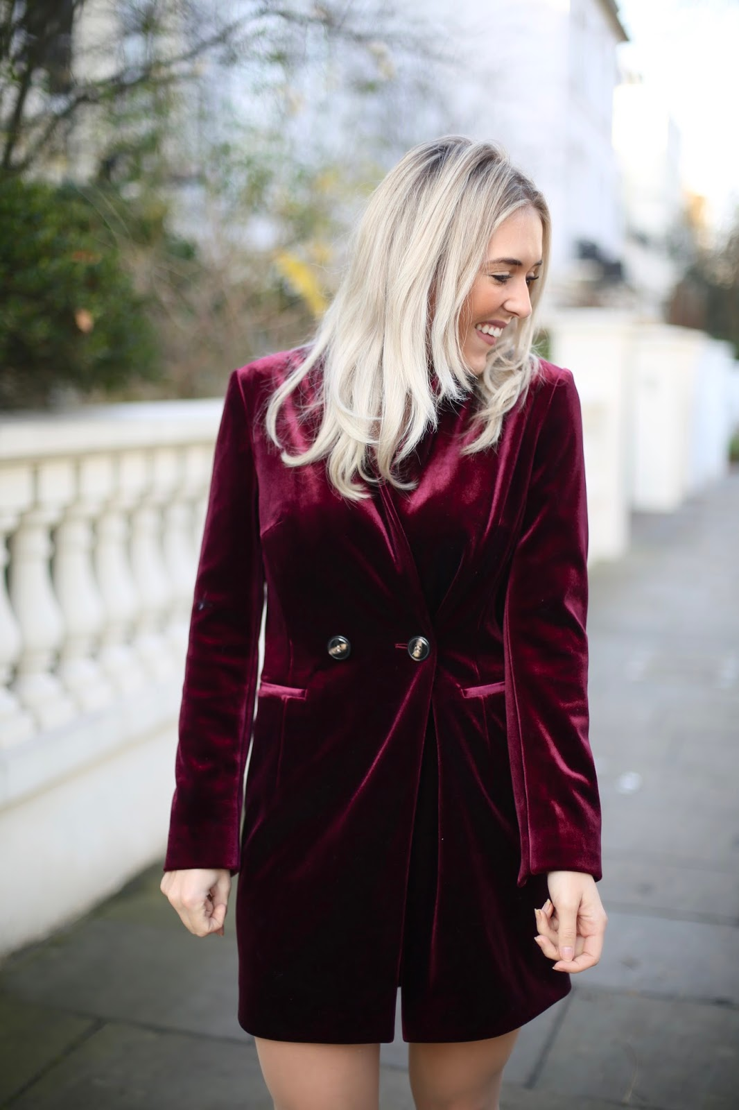topshop red blazer