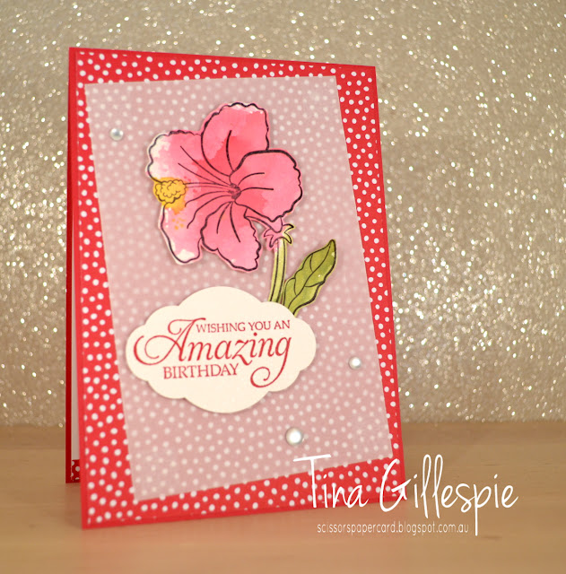 scissorspapercard, Stampin' Up!, Art With Heart, Colour Creations, Humming Along, Varied Vases, In Colour DSP, Smooshing