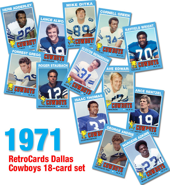 Margene Adkins, Richmond Flowers, Ike Thomas, Gloster Richardson, Roger Staubach, Claxton Welch, Rayfield Wright, Herb Adderley, Lance Alworth, George Andrie, Mike Ditka, Dave Edwards, Cornell Green, Forrest Gregg, Pettis Norman, Jethro Pugh, Lance Rentzel, Don Talbert