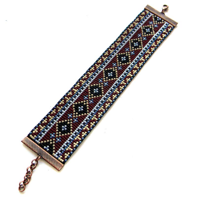 браслет из бисера ткачество на станке бисероплетение украшения блог