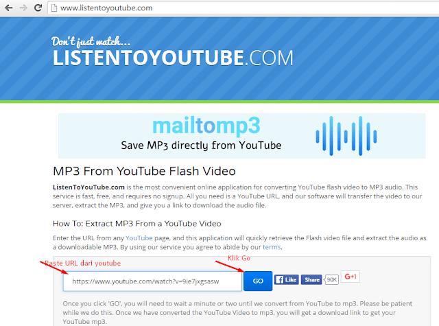 2 Cara Download MP3 Dari Youtube  Tanpa Software