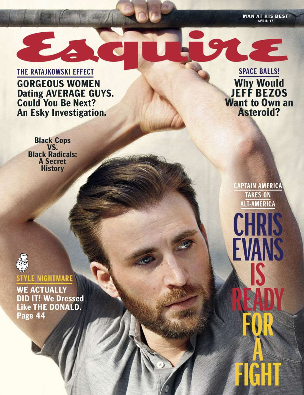 Chris Evans para Esquire USA por Mark Segal