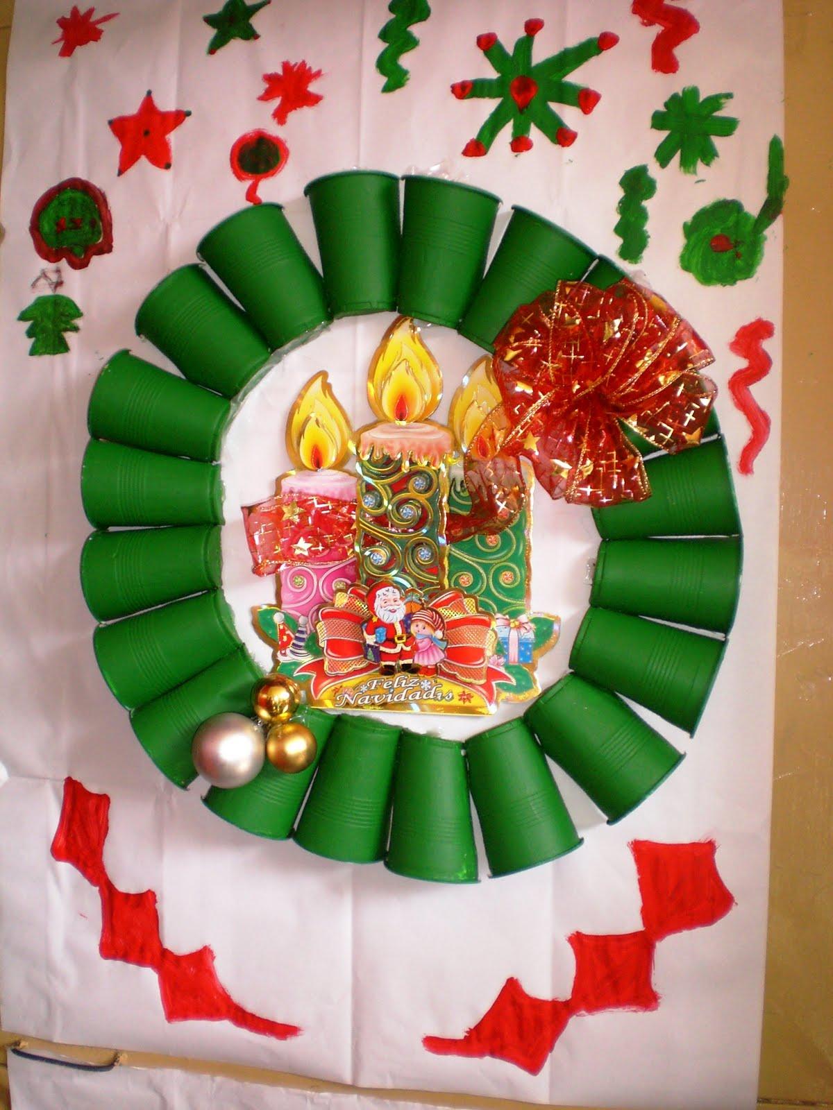 E b n barrio el progreso navidad con reciclaje reducci n - Ideas para decorar en navidad con material reciclable ...