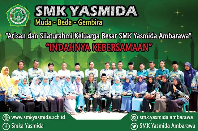 Design Banner Arisan Keluarga Besar SMK Yasmida Ambarawa