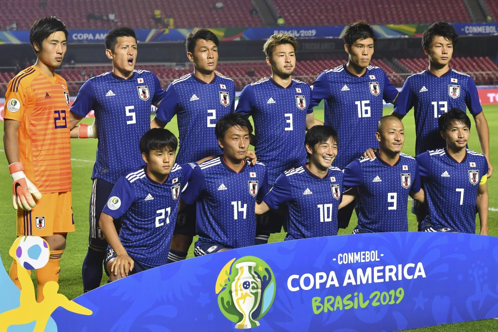 Formación de Japón ante Chile, Copa América 2019, 17 de junio