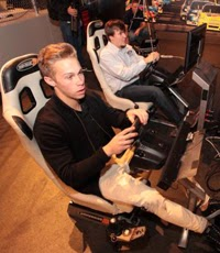 NASCAR K&N Pro Series East champion Dylan Kwasniewski and NASCAR iRacing Series champion Tyler Hudson competed in Wednesday's champions event at the NASCAR Hall of Fame.