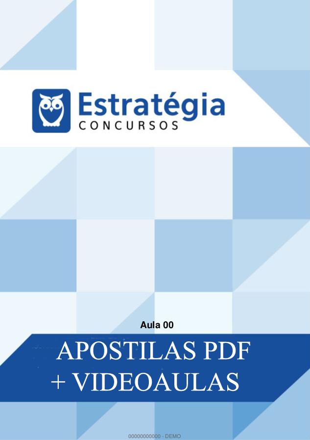 Material para Concurso TJDFT ( Apostilas pdf + videoaulas)