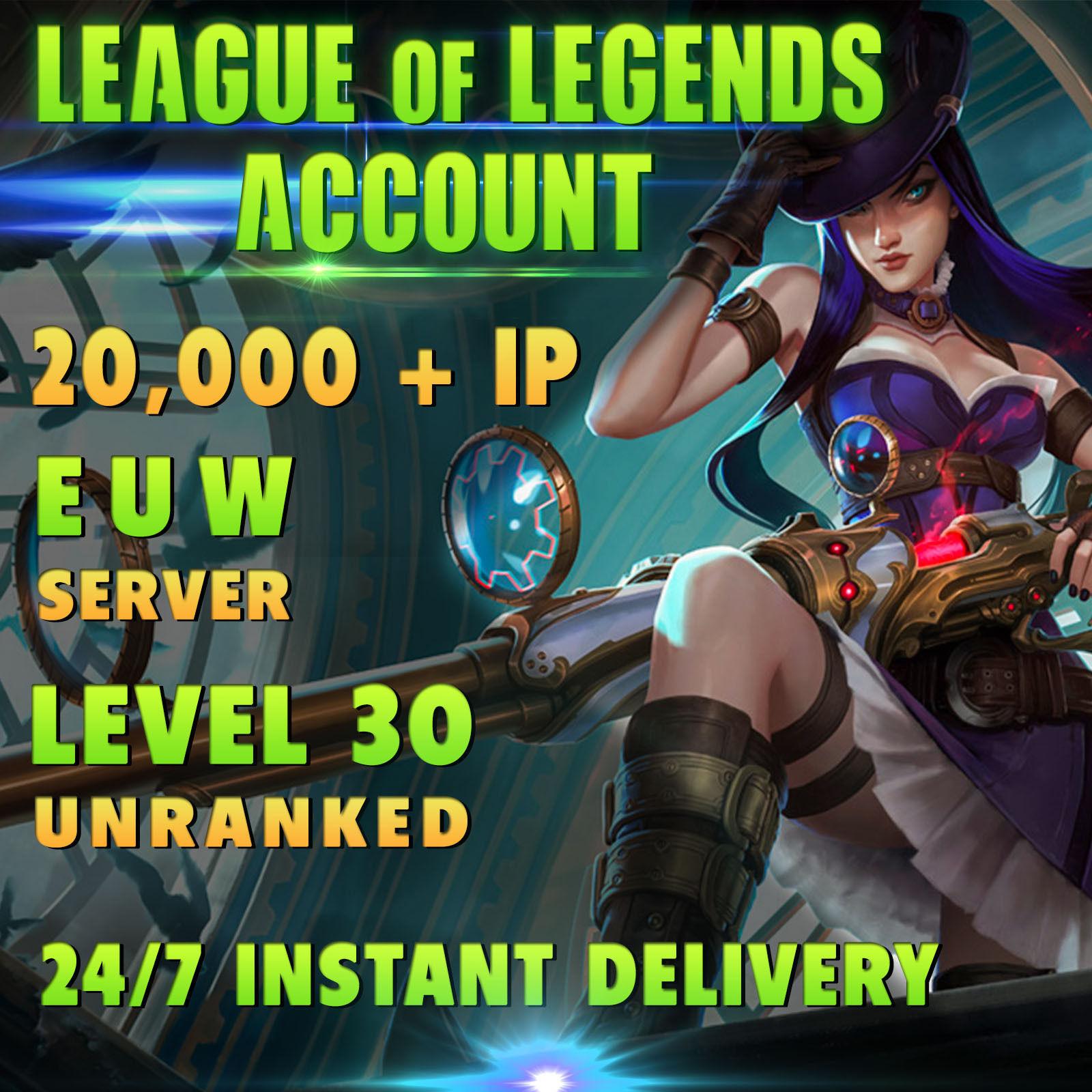 LOL Account League of Legends EUW Account level 30 ...