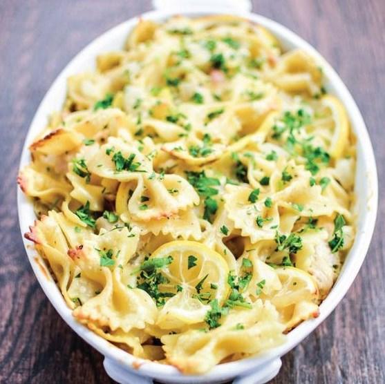 Lemon Chicken Pasta Bake #Pasta #Dinner