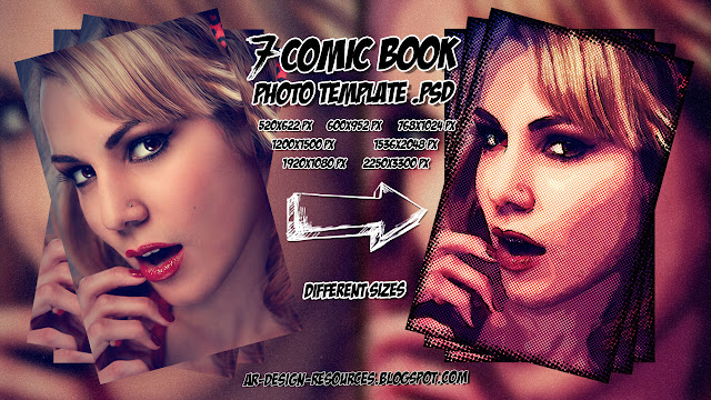 ADR_7 Comic Book Photo Template Thumbnail