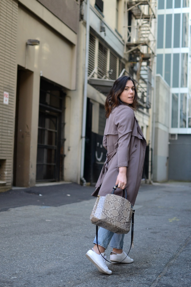 Le Chateau Lauren's Closet trench coat spring outfit Vancouver fashion blogger