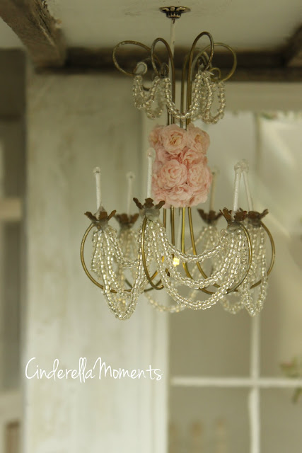 Fabulous This house has crystal chandeliers each covered with my signature roses