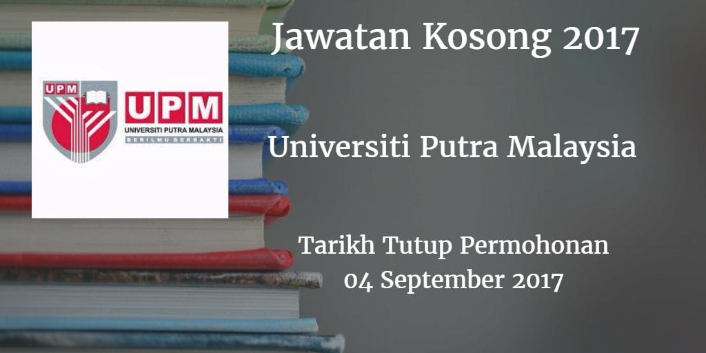 Jawatan Kosong UPM 04 September 2017