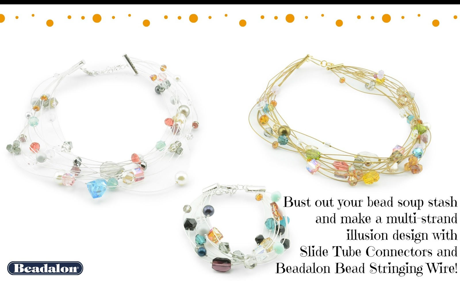 Make a beautiful, deceptively easy, multi-strand illusion bracelet ...