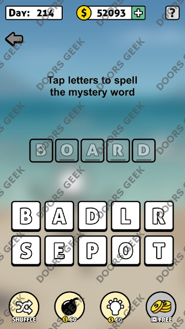 Words Story Day 214 Answer, Cheats, Solution