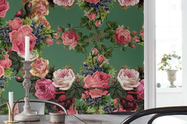 Digitapeet Rebel Walls Bouquet #R15711 Floral Frida   FIESTADESIGN tapeedisalong