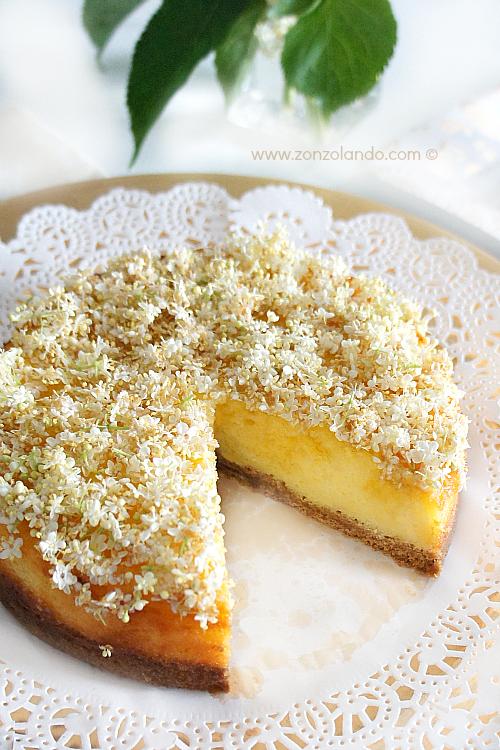 Cheesecake ai fiori e sciroppo di sambuco ricetta dolce elderberry flower cheesecake recipe