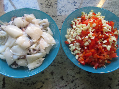 Sepia en salsa de pimientos olla GM