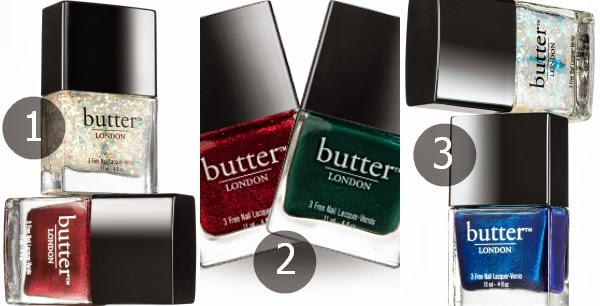 butter LONDON Weihnachts Sets - double take fire, holly jolly, silver bells