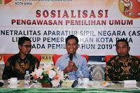 Bawaslu Kota Bima Gelar Sosialisasi Pengawasan Pemilihan Umum