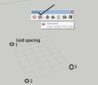 menggunakan sandbox sketchup
