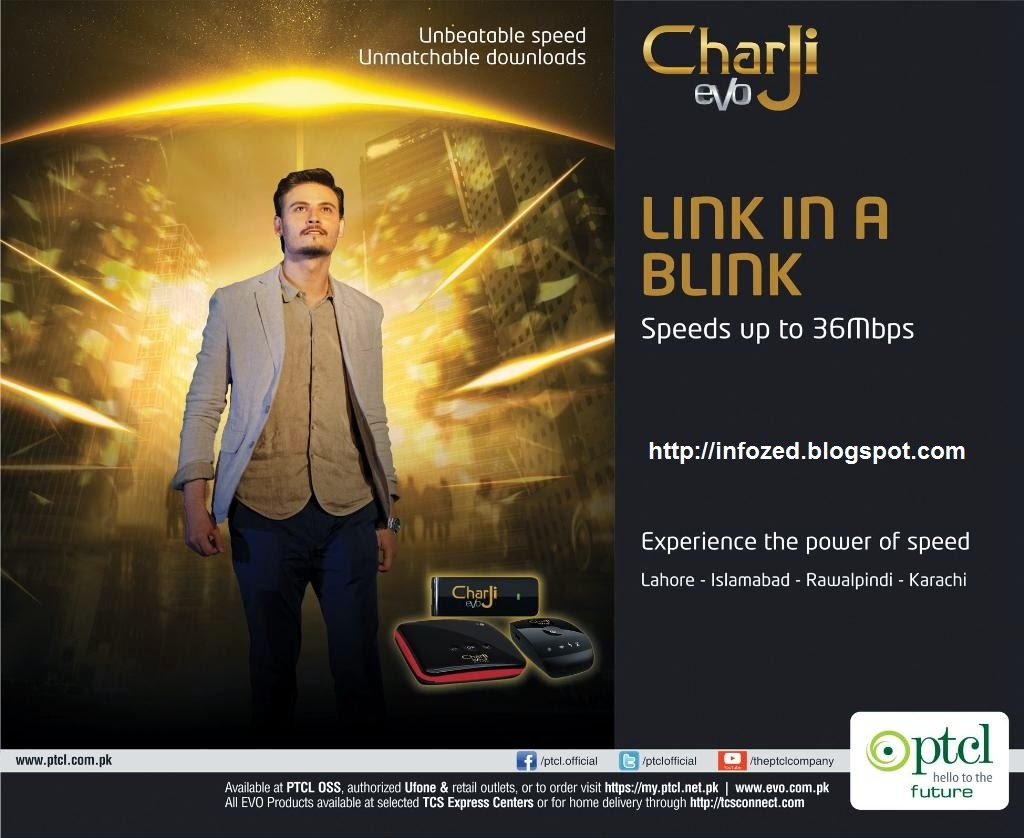 PTCL Charji EVO for Fast Internet, Link in a Blink