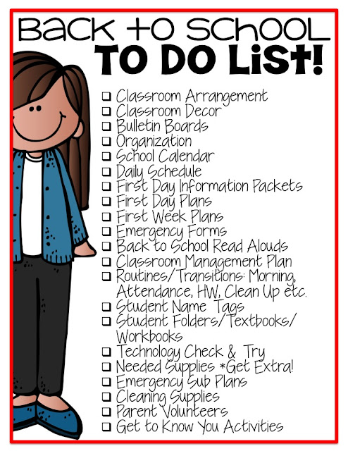 Lattes And Lunchrooms Back to School To Do List