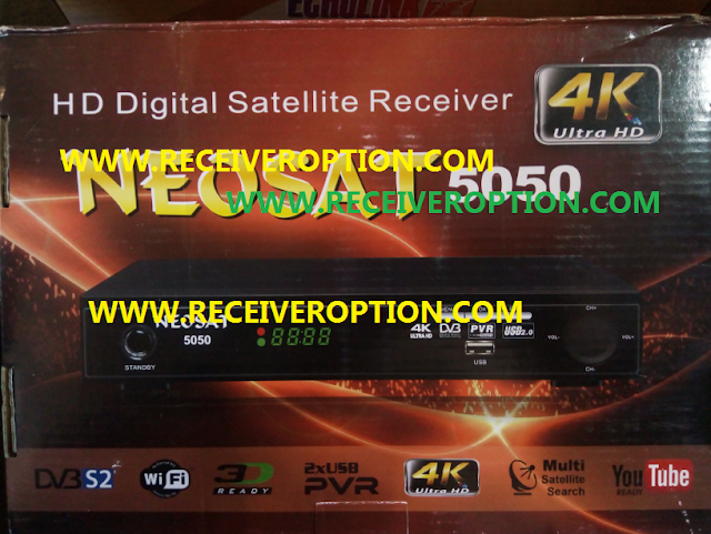 NEOSAT 5050 HD RECEIVER POWERVU KEY NEW SOFTWARE WITH ORIGINAL REMOTE