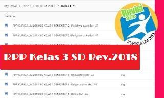 RPP Kelas 3 Kurikulum 2013 Revisi 2018 Semester 2 Tema Bumi dan Alam Semesta