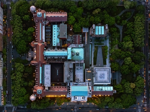 photo by Jeffrey Milstein - NYC Museum of NH | chidas fotos cool stuff - aerial vision of NYC