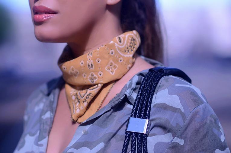 Camel Brown Bandana scarf