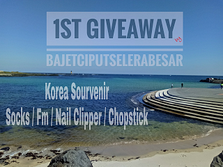 1st Giveaway By Bajetciputselerabesar